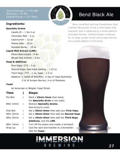 Bend Black Ale